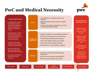 PwC and Medical Necessity