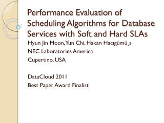 Performance Evaluation of Scheduling Algorithms for Database Services with Soft and Hard SLAs