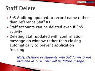 Staff Delete