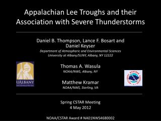 Appalachian Lee Troughs and their Association with Severe Thunderstorms