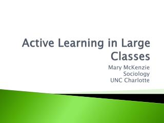 Active Learning in Large Classes