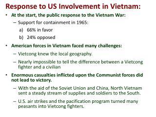 Response to US Involvement in Vietnam: