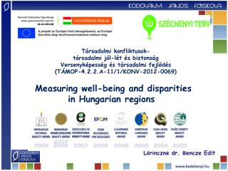 Measuring well-being  and  disparities in Hungarian regions