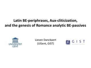 Latin BE-periphrases,  Aux-cliticization,  and  the genesis of Romance analytic BE-passives