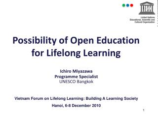 Possibility of Open Education for Lifelong Learning