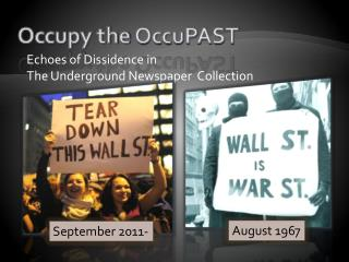 Occupy the  OccuPAST