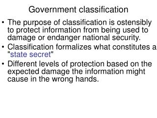 Government classification