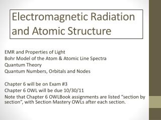 Electromagnetic Radiation and Atomic Structure