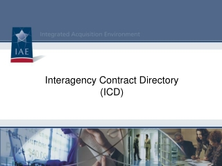 Interagency Contract Directory ICD