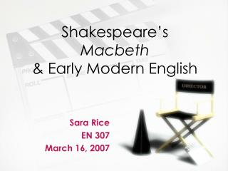 Shakespeare's Macbeth & Early Modern English