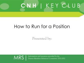 How to Run for a Position