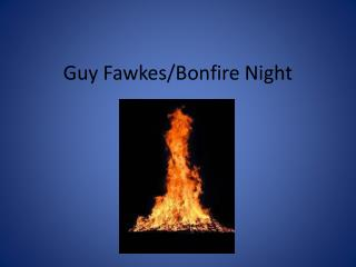 Guy Fawkes/Bonfire Night