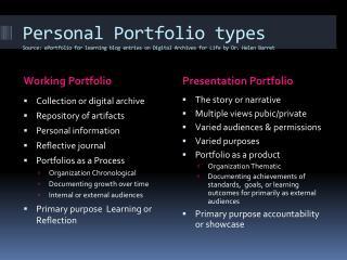 Working Portfolio