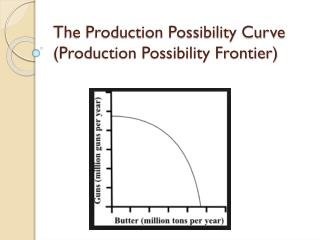 The Production Possibility Curve  (Production Possibility Frontier)