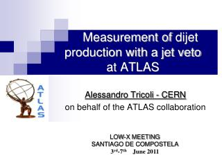 Measurement of  dijet  production with a jet veto  at ATLAS