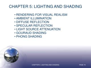 Chapter 5: Lighting and Shading