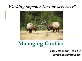 Conflict Resolution: Discovering Your Style and Constructively Addressing Differences