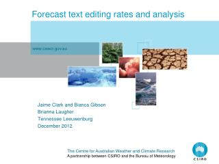 Forecast text editing rates and analysis
