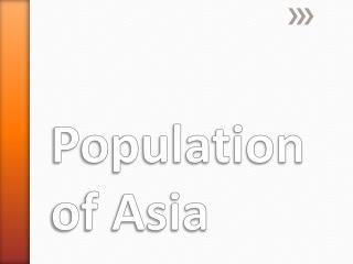 Population of  Asia