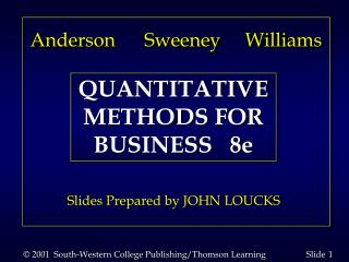 © 2001  South-Western College Publishing/Thomson Learning