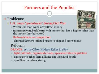 Farmers and the Populist
