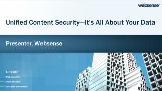 Presenter,  Websense