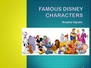 Famous Disney Characters