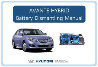 AVANTE HYBRID Battery Dismantling Manual