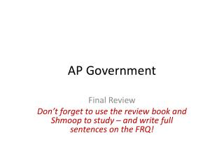 AP Government