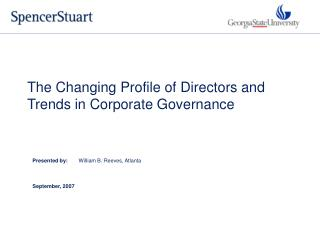 The Changing Profile of Directors and  Trends in Corporate Governance