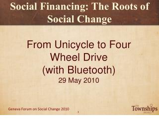 Social Financing: The Roots of Social Change