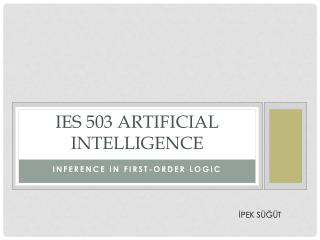 IES 503 ARTIFICIAL INTELLIGENCE