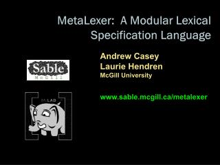 MetaLexer :  A Modular Lexical  Specification Language