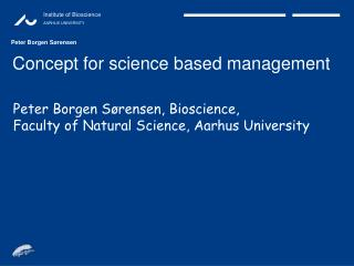 Concept for science based management
