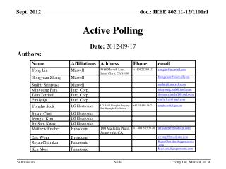 Active Polling