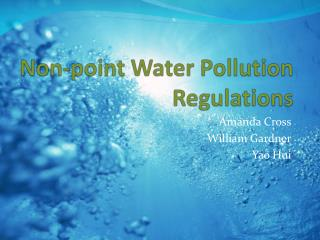 Non-point Water Pollution Regulations