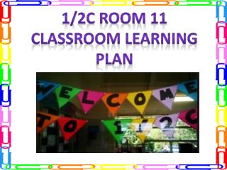 1/2C Room 11 Classroom learning plan