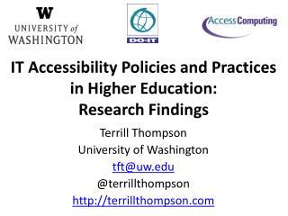 Terrill Thompson University of Washington tft@uw @ terrillthompson terrillthompson
