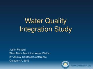 Water Quality Integration Study