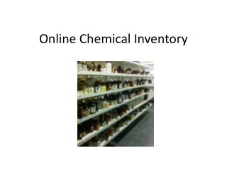 Online Chemical Inventory