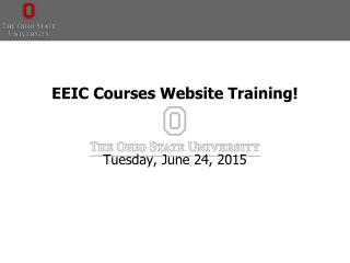 EEIC Courses Website Training!