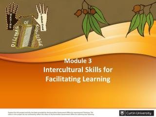 Module 3 Intercultural  Skills  for Facilitating  Learning
