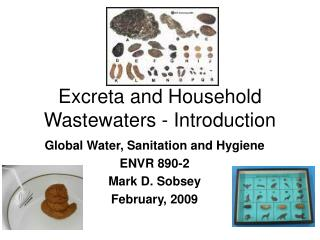 Excreta and Household Wastewaters - Introduction