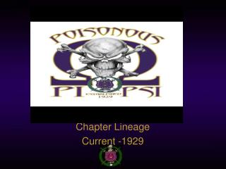 Chapter Lineage Current -1929
