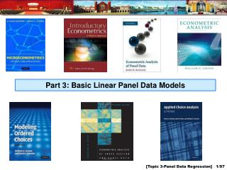 Part 3: Basic Linear Panel Data Models