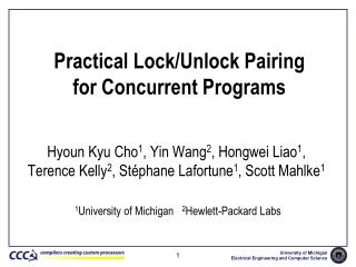Practical Lock/Unlock Pairing  for Concurrent Programs