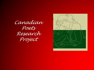 Canadian Poets Research Project