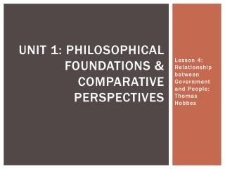 Unit 1: Philosophical Foundations & Comparative Perspectives