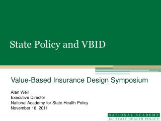 State Policy and VBID