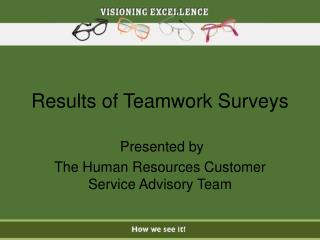 Results of Teamwork Surveys